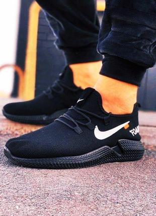 Стильные черные  мужские дышащие кроссовки для бега и прогулок, размер 40, новые