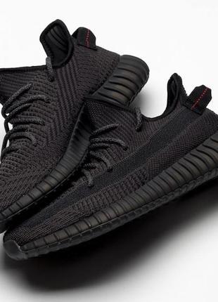 Женские кроссовки adidas yeezy boost 350 v2 black reflective