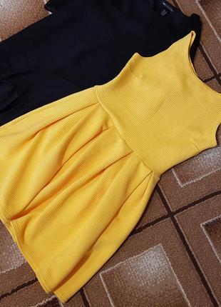 Крутое желтое платье boohoo