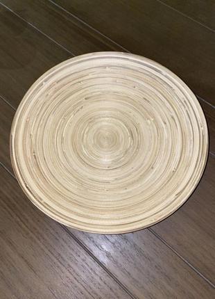 Тарілка бамбук ikea