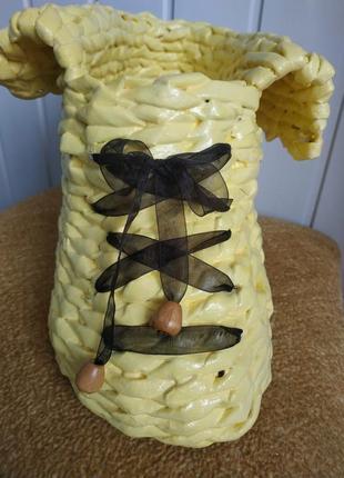 Сапожок плетеный ручной работы