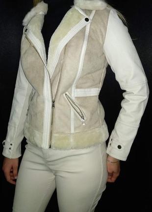 Косуха river island деми мех эко кожа курточка теплая дубленка штаны2 фото