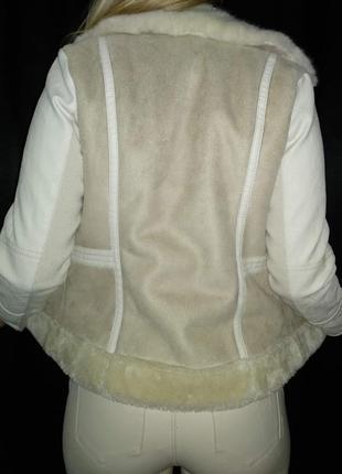Косуха river island деми мех эко кожа курточка теплая дубленка штаны3 фото