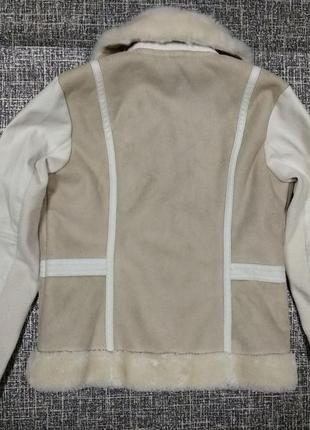 Косуха river island деми мех эко кожа курточка теплая дубленка штаны9 фото