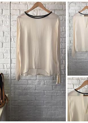 Воздушная блуза расслабленного кроя с деликатным вырезом на спинке    bl0760    h&m