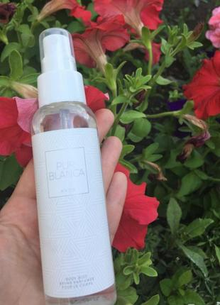 Парфюмированный спрей мист увлажняющяя вода для тела и волос pur blanca пур бланка эйвон