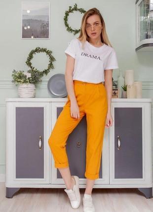 Женские брюки 💛 желтые штаны горчичные