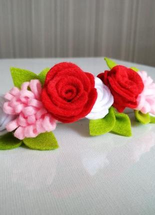 Повязка- венок для девочки / цветочная повязка