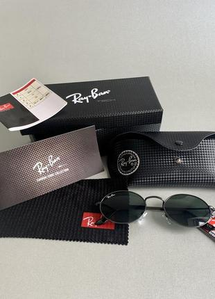 Новые очки овальные чёрные тренд. полный комплект.