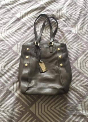 Кожаная сумка-шопер coccinelle