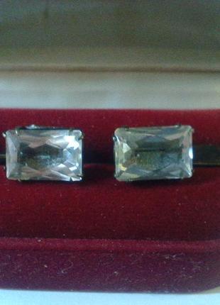 Серебряные запонки ссср 875 пробы ( 2лю ) в родной коробочке