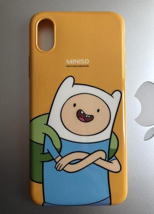 Чехол iphone x/xs miniso с фином время приключений