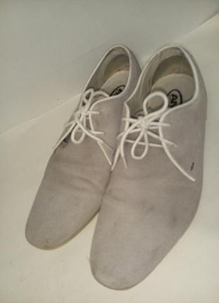 Туфли натуральная замша по стельке 27,5-28см
