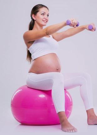 Большой фитбол, гимнастический мяч 85см profitball (усиленный) dark pink