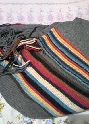 Брендовая шапочка с шарфом paul smith