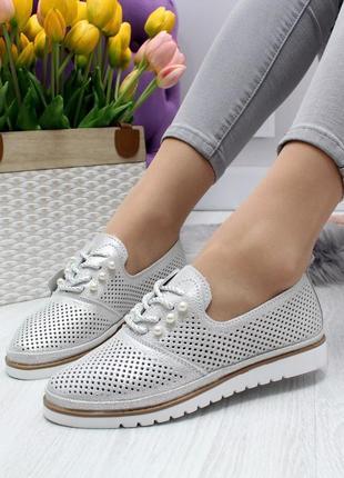 Туфли на шнурках перфорация