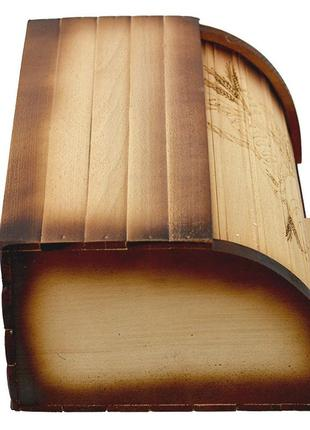 Красивая деревянная хлебница3 фото