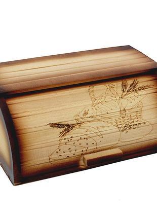 Красивая деревянная хлебница