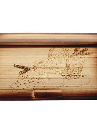 Красивая деревянная хлебница2 фото