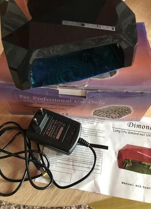Професиональная лампа для маникюра uv led гибрид