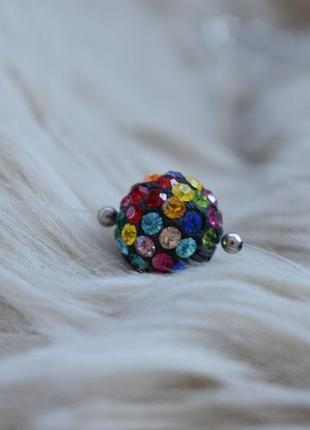 Веселый кулон multicolor на леске с кристаллами preciosa crystals.