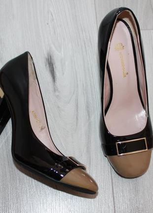 Кожаные туфли rosstyle 39р