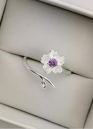 Серебряное кольцо цветок, серебро, срібна каблучка, срібний перстень, срібло