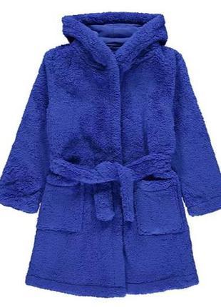 Теплый  плюшевый халат с капюшоном для ребенка george (великобритания)