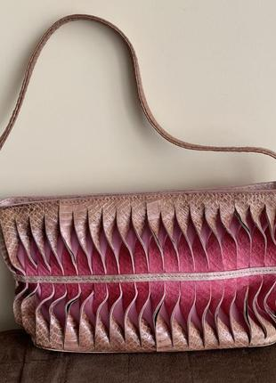 Сумка клатч кошелёк hand made кожа змея натуральная