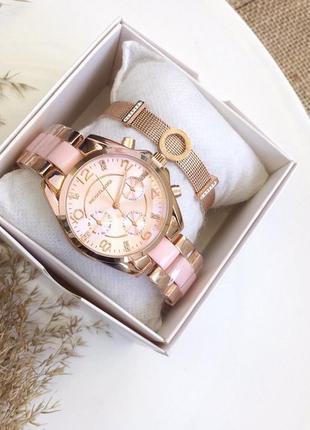 Обалденный набор часы и браслет