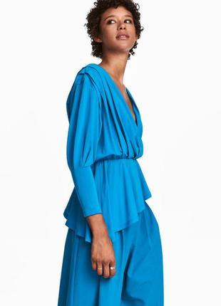 Асимметричная блуза блузка топ на запах h&m