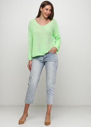 Женские джинсы wiya голубого цвета (размер l)
