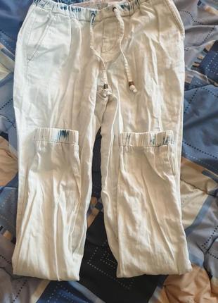 Штаны джинсы джоггеры джоггиры летние