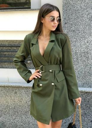Трендовое платье -пиджак