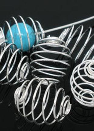 Ловушки для бусин, серебристые, 10 штук! для рукоделия, украшений