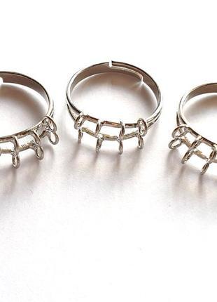 Основа для кольца с 8 петельками, родированная