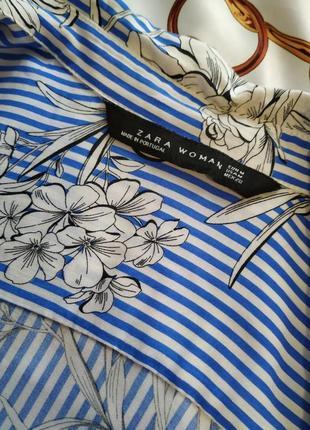 Блуза рубашка полоска в цветочный принт португалия 😍😍