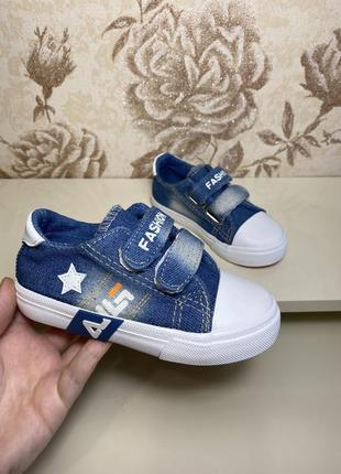 Легкая детская обувь кроссовки джинс