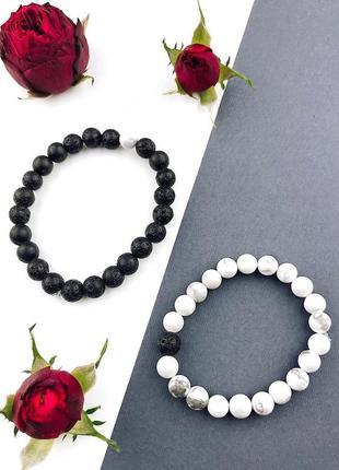 Шикарные парные браслеты из натуральных камней