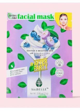 Biobelle тканевая маска для лица с черникой и йогуртом для тусклой и уставшей кожи