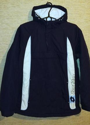 Подростковая демисезонная спортивная куртка анорак фирмы lotto