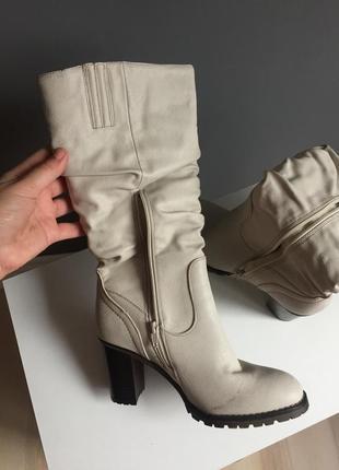 Сапожки / кожаные сапоги / зимние сапоги / сапоги зимние