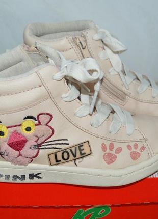 Zara girls pink panther высокие кеды 30р
