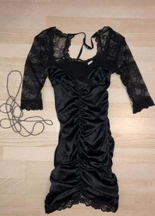 Сексуальное платье из стрейч шелка