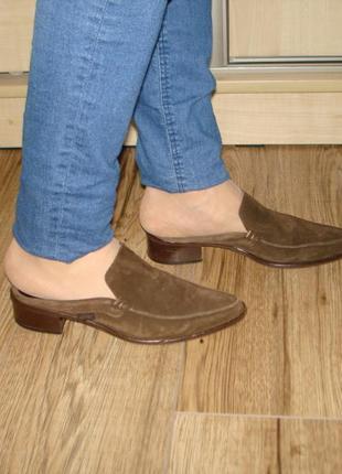 Туфли мюли кожаные бренд esprit. при покупке 2-ух вещей,третья в подарок!