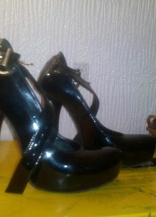 Туфли кожа pier lucci