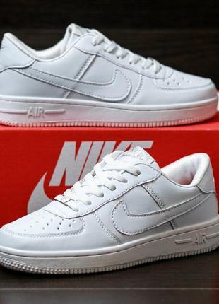 Nike air force 1 low стильные женские кроссовки найк белые3 фото