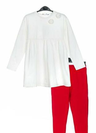 Комплект платье с стразами и розами + лосинки - original marines.( италия)
