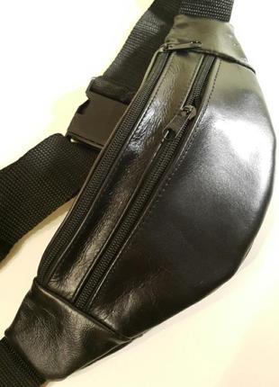 Бананка из натуральной кожи, кожаная сумка на пояс на плечо