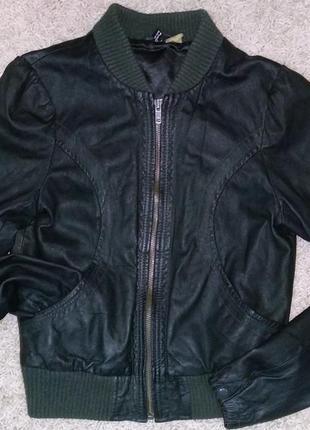 Кожа куртка h&m женская натуральная6 фото